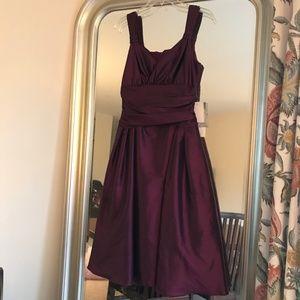 NWT Scott McClintock Purple Taffeta Formal Dress